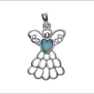 Birthstone Angel Necklace
