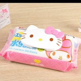 日本進口 Melody/ Kitty濕紙巾蓋  可重覆使用(melody 現貨)