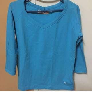 Blue Kamiseta 3/4 stretch top