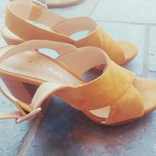 Gorgeous Tan Suede Leather Robert Robert Women's Shoes Size 38.5