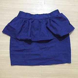 Peplum Skirt In Navy blue