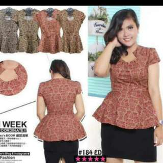 TRIBAL PEPLUM TOP