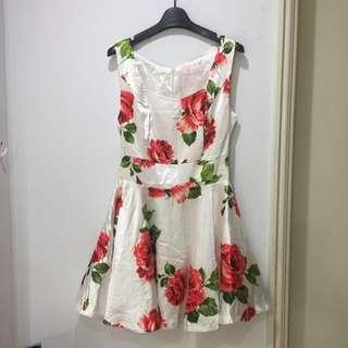 復古玫瑰花蓬裙