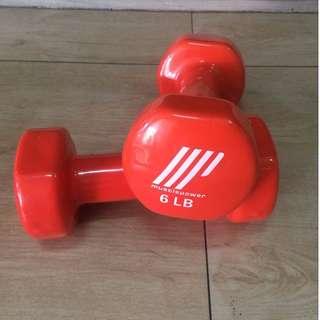 Muscle Power Dumbbell Orange 6LB