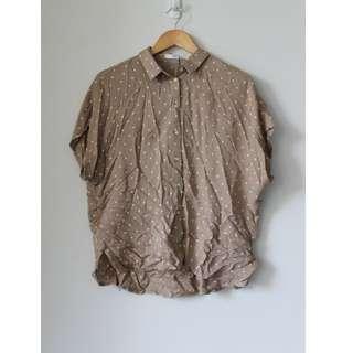 MNG polka dot blouse