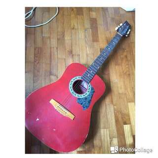 [Reserved] Red Acoustic Guitar
