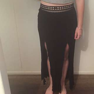 Ice Long Skirt With Slits