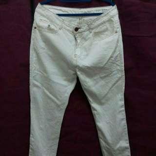 Cotton On White Boyfriend Jeans