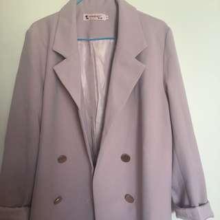 寬鬆優雅薄外套