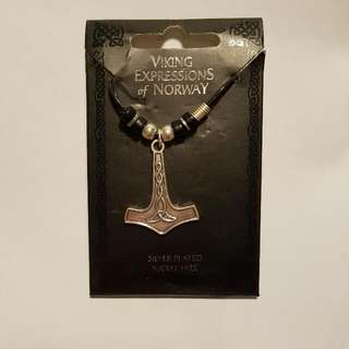 Norwegian Thor's Hammer Necklace In Sterling Silver
