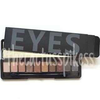 (bnib) 10 shade eye shadow palette