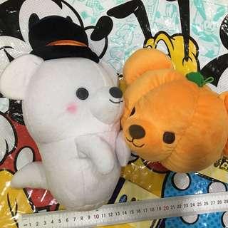 日本迪士尼 萬聖節 幽靈熊 南瓜熊 玩偶