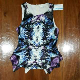 VALLEYGIRL peplum Top