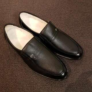 Genuine Leather Dress Shoes With Furry Lining