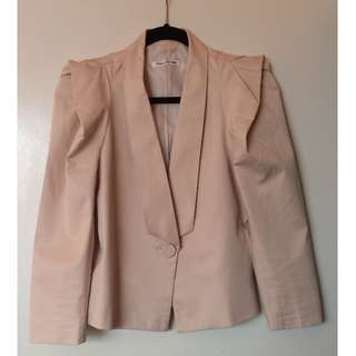 Bianca Spender nude cotton blazer