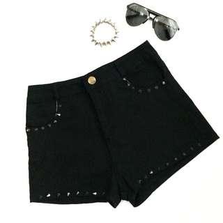 Black Studded Short