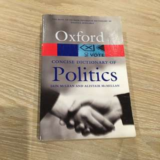 Oxford Concise Dictionary Of Politics