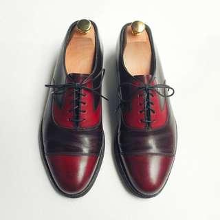 90s 美製橫飾牛津皮鞋|Florsheim Cap Toe Oxford US 8D EUR 40