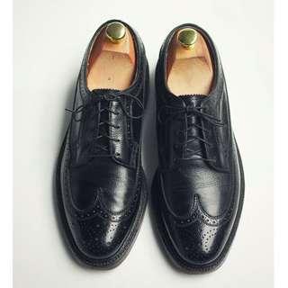 70s 美製雕花翼紋德比皮鞋 Florsheim R-I Kenmoor US 8C Eur 40