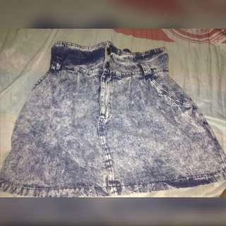 High Waist Denim Skirt (26-27)