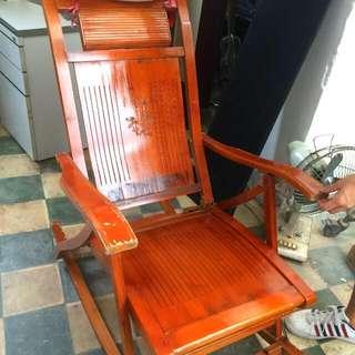 可折疊式 木搖椅