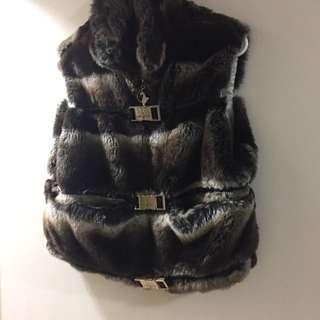Women's Baby Phat Fur Vest