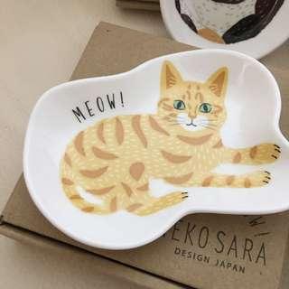 via日好貨❤️日本製貓咪碟子/收納皿具
