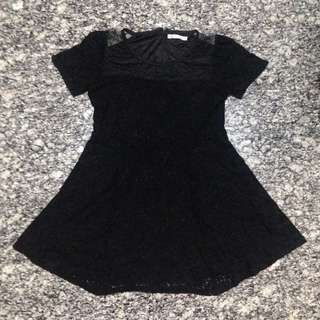BNWOT Black Lace with Mesh Shoulder Dress - 2XL