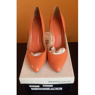 Alan Pinkus Coral leather pointy toe heels