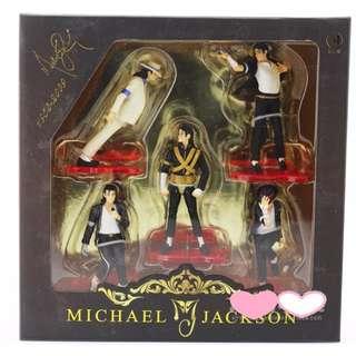 超級巨星麥克傑克遜 Michael jackson 經典舞步 月球漫步 5款一組 玩具模型 公仔 紀念款