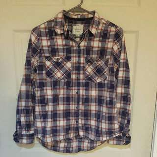 Forever 21 Plaid Button-down Shirt
