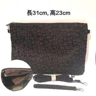 [全新]黑色豹紋手提袋