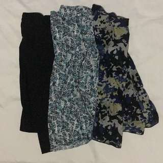 Lot of 3 Sheer Blouses and Sleeveless