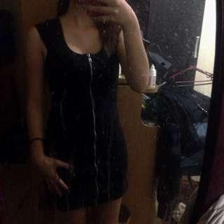 H&M Divided Zip Up Dress Black (Pre-loved)