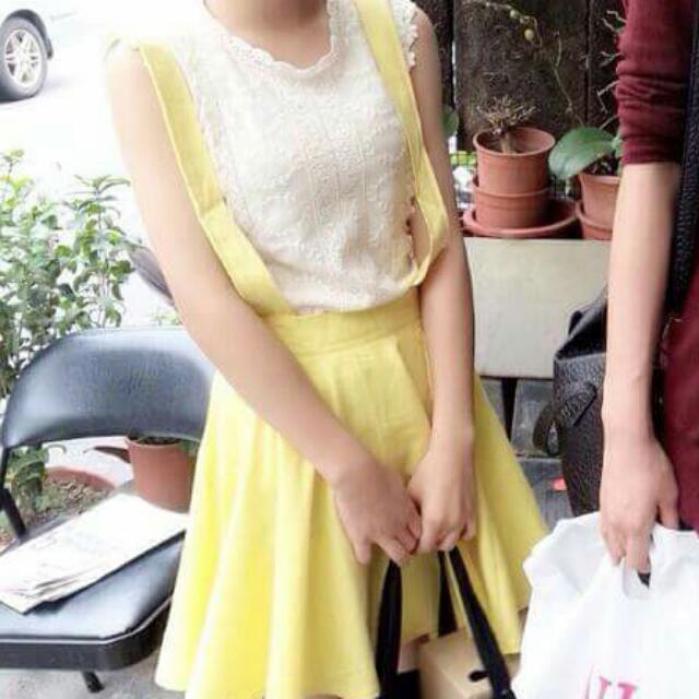 黃色吊帶裙