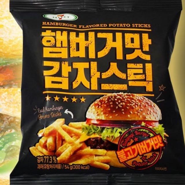 韓國薯條餅乾 炙燒BBQ漢堡