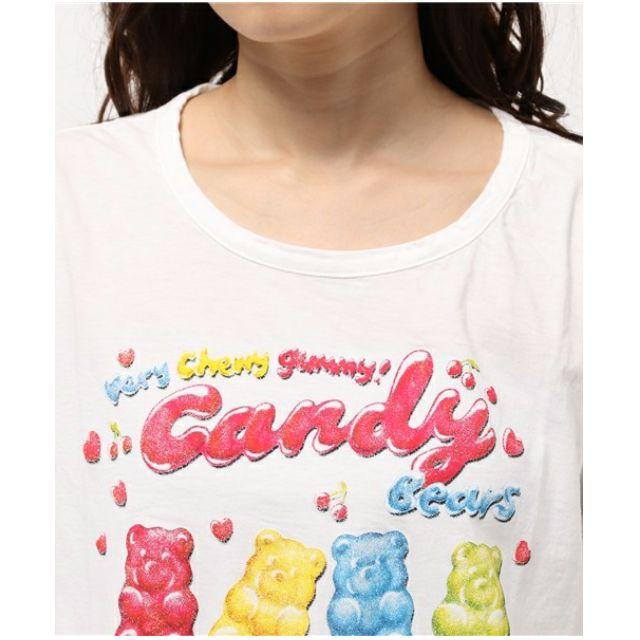 日牌 candy stripper 正版 小熊軟糖 短版 T 原買兩千多/賣水洗黑色