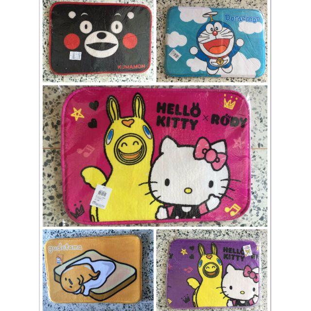 工廠直出  Hello Kitty & Rody+多啦A夢+蛋黃哥+KUMAMON熊 多種卡通地毯