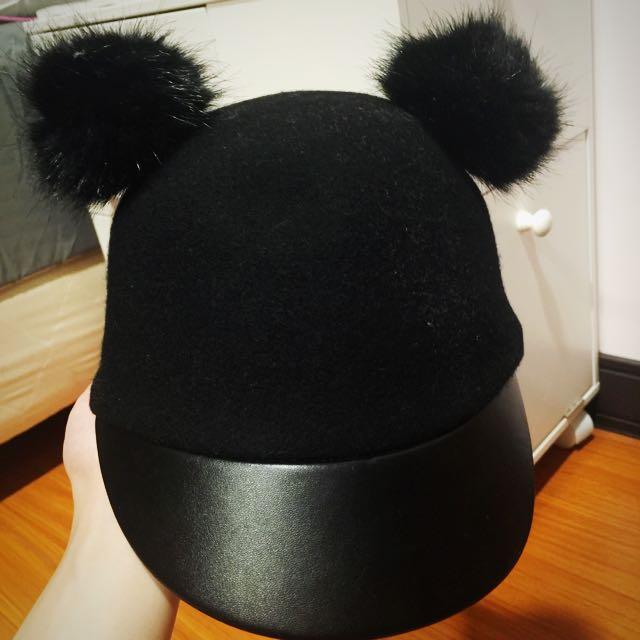 超喜歡的米奇毛呢帽 H&m 56