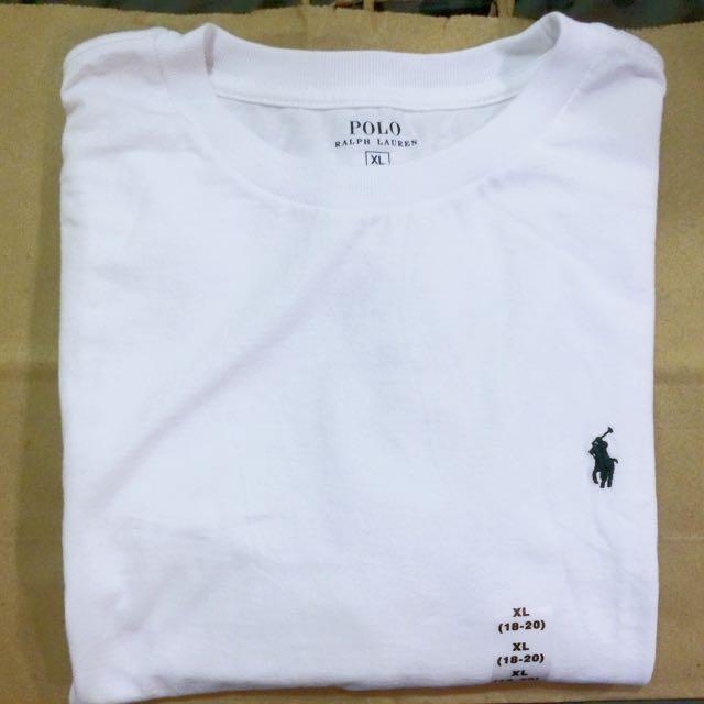 全新現貨 POLO素色短袖上衣 T-shit 深藍/白