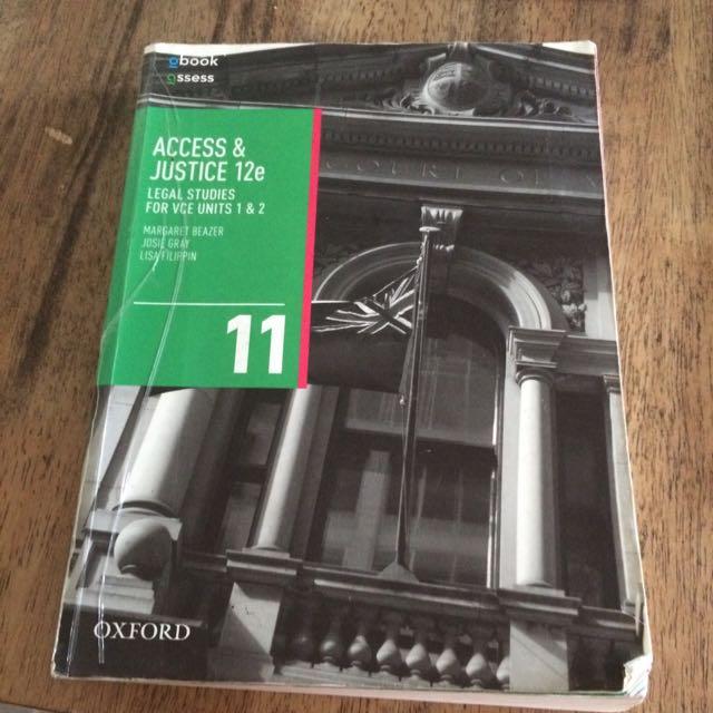 Access & Justice VCE Legal Studies 1&2 (12E) Year 11