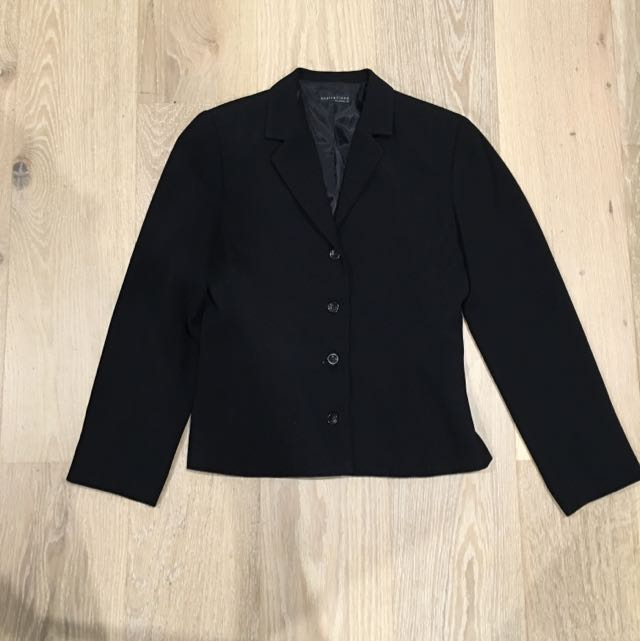 Aspirations By Events Black Suit Jacket Size 8