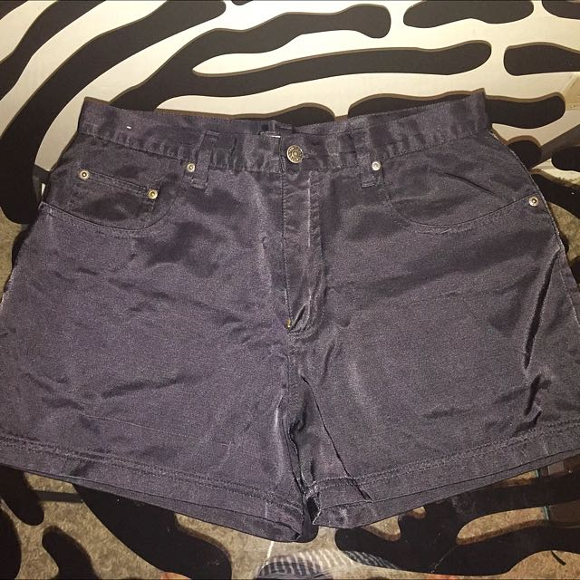 Black High Waist Shorts Size 13