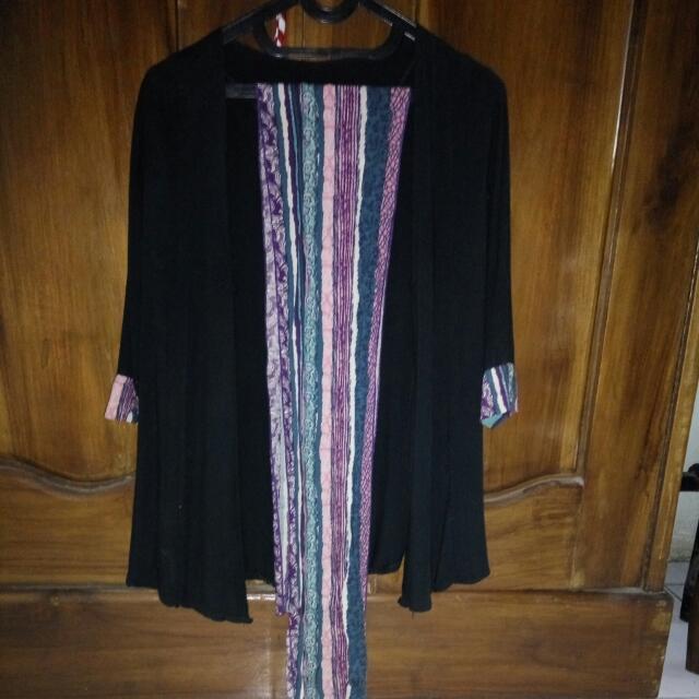 Blouse Batik With Shawl