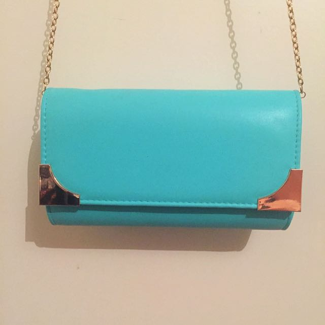 Blue And Gold Clutch