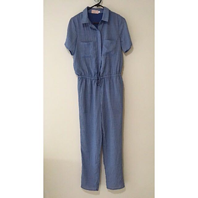Blue Farrow Jump Suit