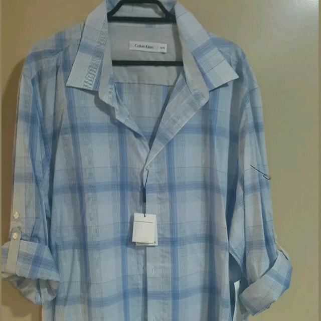 Calvin Klein Mens Transitional Shirt  Size XL