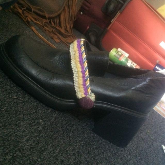 Cute Black Leather Heels
