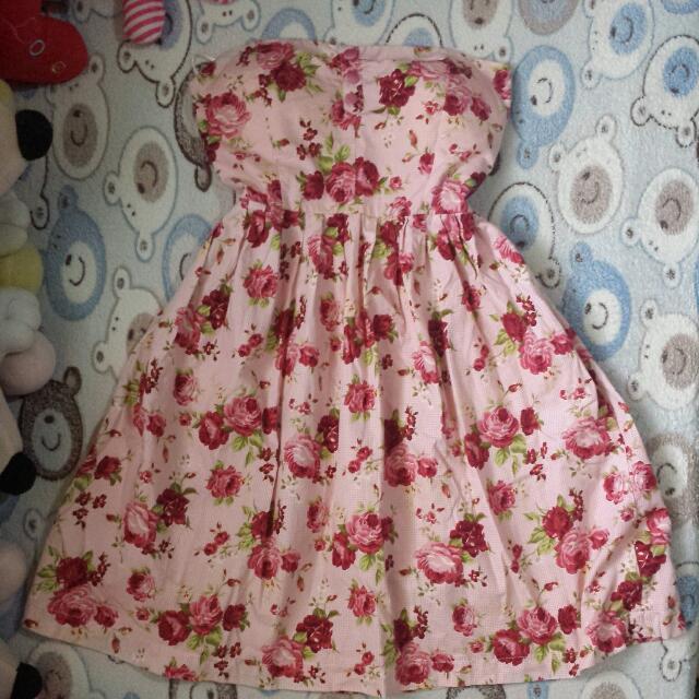 floral tube dress..  design by. Belleboo