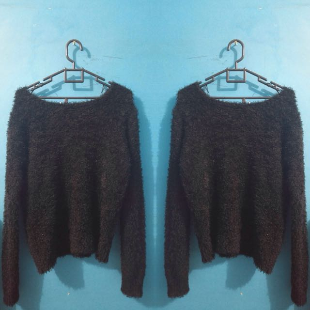 H&M SWEATER  FUR SWEATER